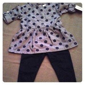 Girls Polka Dot Outfit